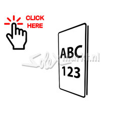 Porte-plaque d'immatriculation