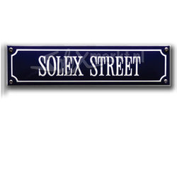 Solex emaille plaque de rue - Solex Street (33x8cm)