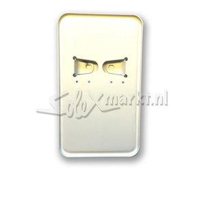 Porte-plaque d'immatriculation -Blanc -modèle long