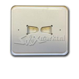 Porte-plaque d'immatriculation -Blanc -modèle large