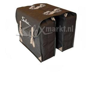 Sacoches noires avec ''Solex''